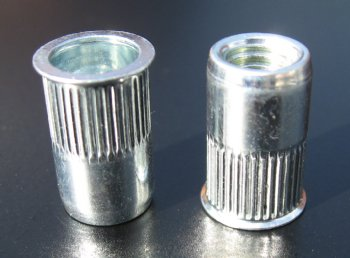 Stainless Steel, low profile head, splined ProGrip Rivet Nuts - 0231 Series