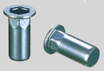 ProGrip stainless steel, hex body large flange head, closed end rivet nut - 0264 series
