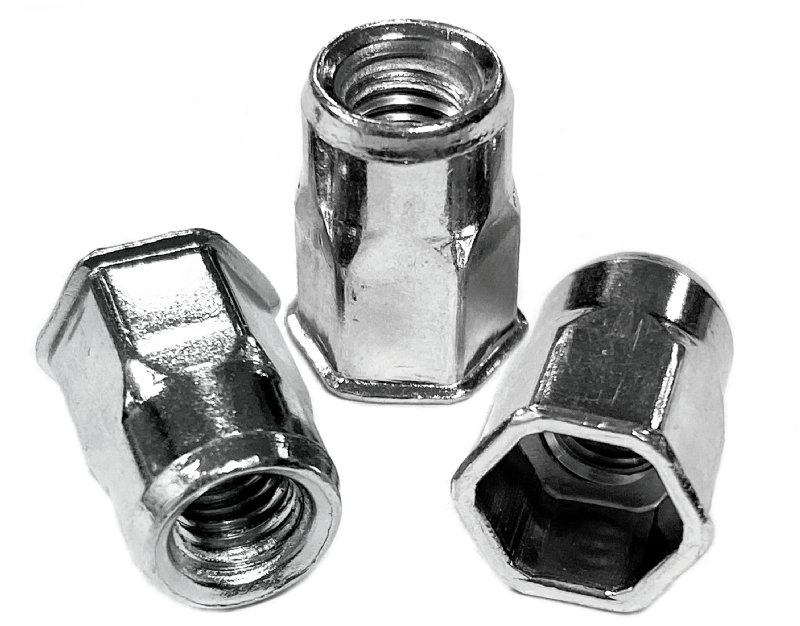 Steel, hexagon, low profile head ProGrip Rivet Nuts - 2113 Series
