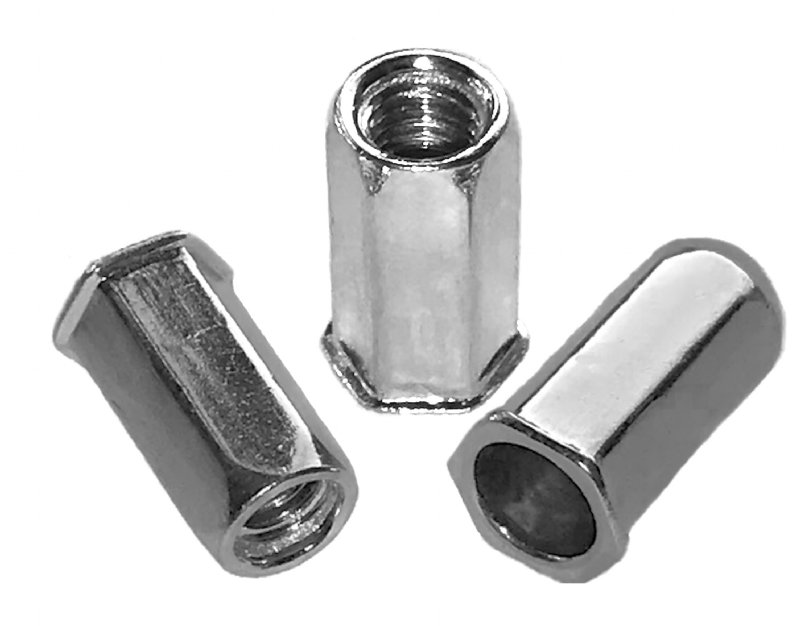 Steel, full hexagon, low profile head ProGrip Rivet Nuts - 2114 Series