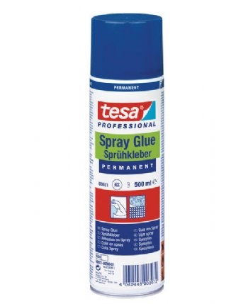 tesa ® 60021 Spray glue PERMANENT, 500ml